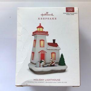 """Hallmark """"Holiday Lighthouse"""" ornament"""